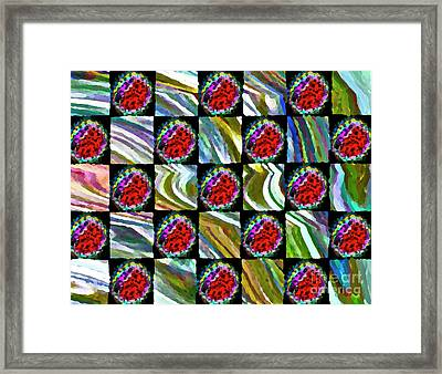 Painted Quilt Framed Print