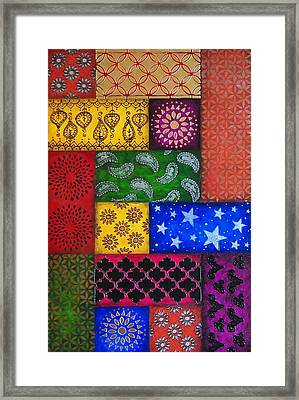Painted Quilt, Part Framed Print by Amy Wons