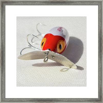 Painted Red And White Jitterbug Framed Print