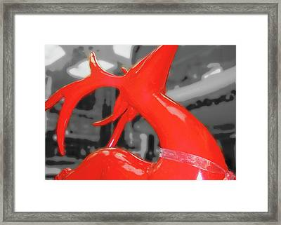 Painted Reindeer Framed Print by JAMART Photography