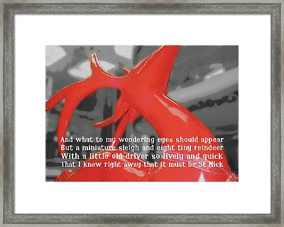Painted Reindeer Quote Framed Print by JAMART Photography