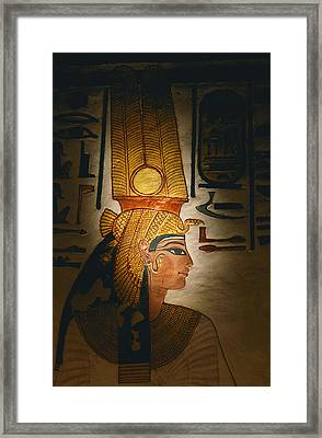 Painted Relief, Nefertari Tomb, Valley Framed Print by Kenneth Garrett