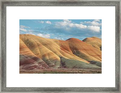 Painted Ridge And Sky Framed Print by Greg Nyquist
