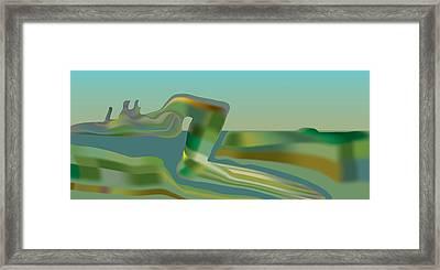 Painted Riverland Framed Print