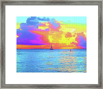 Painted Sails Key West Framed Print by Chris Andruskiewicz