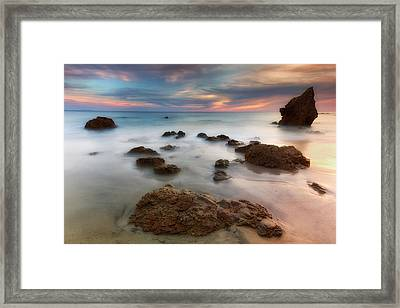 Painted Sea Framed Print by Nicki Frates