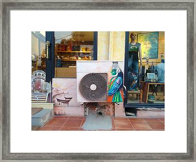 Painted Shop Framed Print by Sumit Mehndiratta