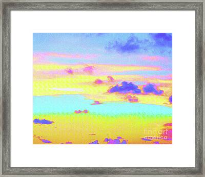 Painted Skies Framed Print by Chris Andruskiewicz