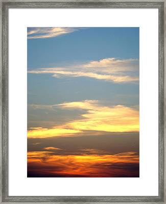 Painted Sky Framed Print by Ana Villaronga