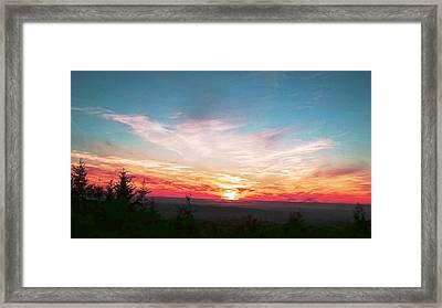 Painted Sky II Framed Print