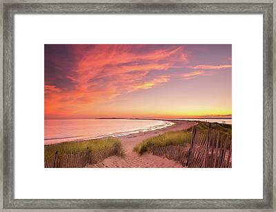 Painted Sky Over Napatree Point Framed Print