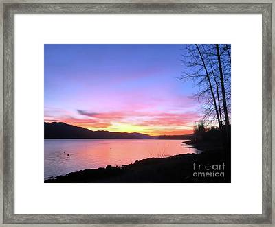 Painted Sky Framed Print by Victor K