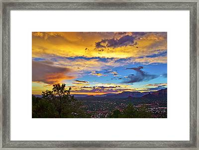 Painted Sky's Over Sedona Framed Print