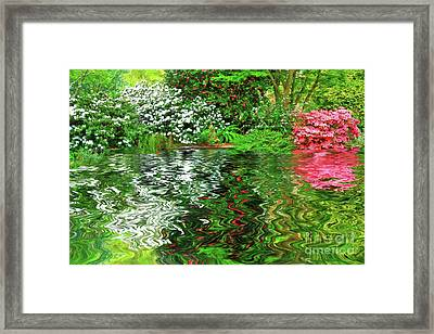 Painted Spring Garden By Kaye Menner Framed Print