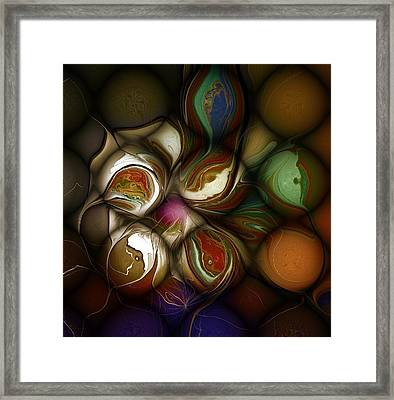 Painted Stones Framed Print