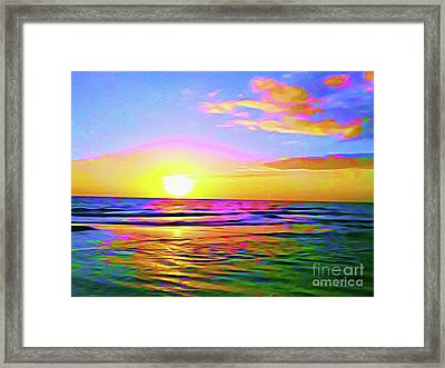 Painted Sunset Framed Print by Chris Andruskiewicz