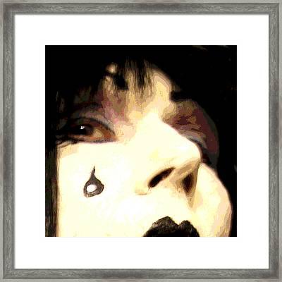 Painted Tear Drop Framed Print by Ginny Schmidt