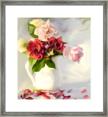 Painted Teas Framed Print by Linde Townsend
