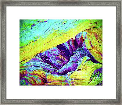 Painted Tree Framed Print by Chris Andruskiewicz
