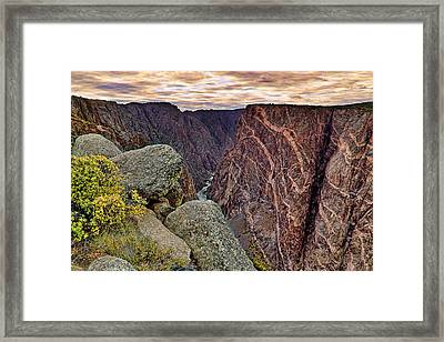 Framed Print featuring the photograph Painted Wall At Black Canyon Of The Gunnison - Colorado - Landscape by Jason Politte