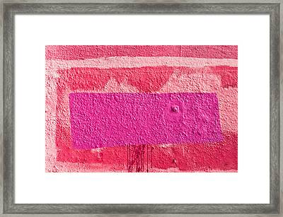 Painted Wall Framed Print