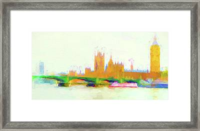 Painted Westminster Framed Print by Sharon Lisa Clarke