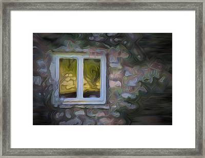 Painted Window Framed Print