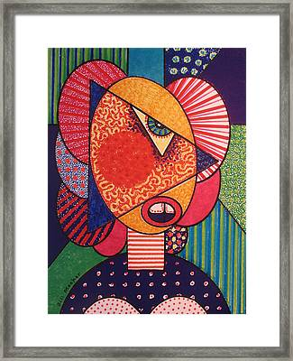 Painted Woman Framed Print by Bill Meeker