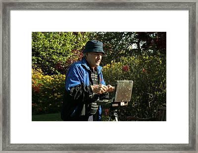 Painter At Work 1 Framed Print