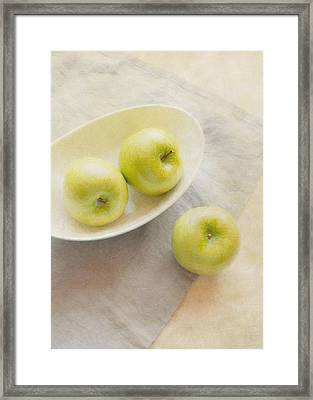 Painterly Apples Framed Print