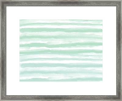 Painterly Beach Stripe 2- Art By Linda Woods Framed Print