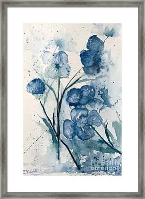 Painterly  Blues Framed Print