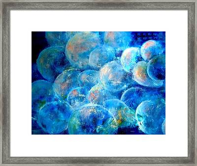 Painterly Bubbles Framed Print