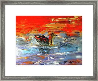 Painterly Escape II Framed Print by Lisa Kaiser