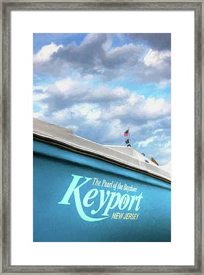 Framed Print featuring the photograph Painterly Keyport Sailboat by Gary Slawsky