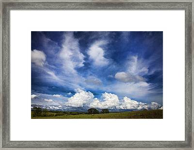 Painterly Sky Over Oklahoma Framed Print