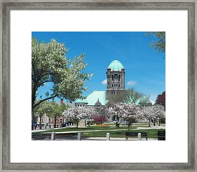 Painterly Taunton Green Spring Framed Print