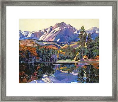 Painter's Lake Framed Print by David Lloyd Glover