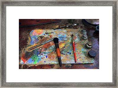 Framed Print featuring the photograph Painter's Palette by Jessica Jenney