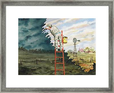 Paintin Up A Storm Framed Print