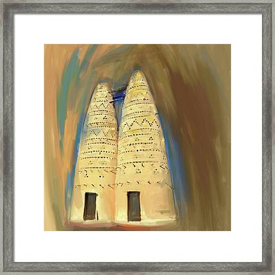 Painting 676 1 Pigeon Houses Framed Print