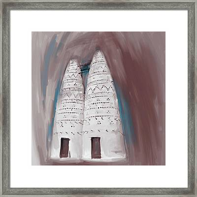 Painting 676 2 Traditional Pigeon Houses Framed Print