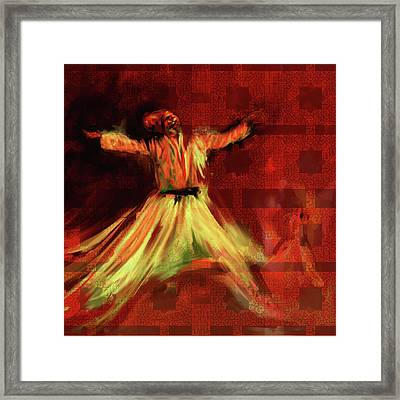 Painting 715 2 Sufi Whirl I Framed Print