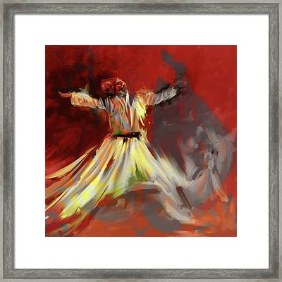 Painting 715 3 Sufi Whirl I Framed Print