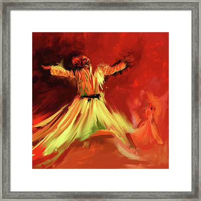 Painting 715 Sufi Whirl 1 Framed Print