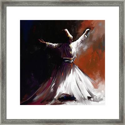 Painting 716 1 Sufi Whirl II Framed Print