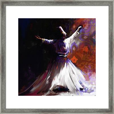 Painting 716 2 Sufi Whirl 2 Framed Print