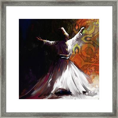 Painting 716 3 Sufi Whirl 2 Framed Print