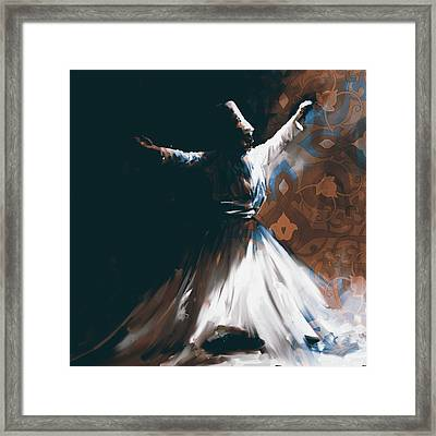 Painting 716 4 Sufi Whirl 2 Framed Print