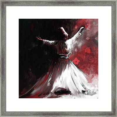 Painting 716 5 Sufi Whirl II Framed Print
